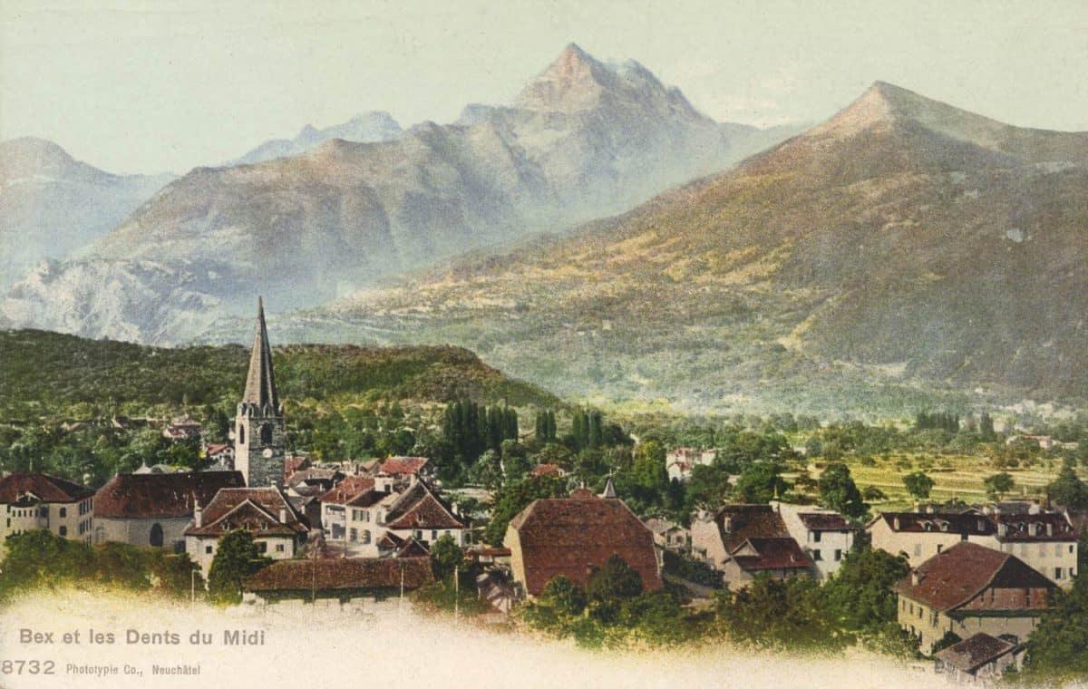 Carte postale, Bex et les Dents du Midi