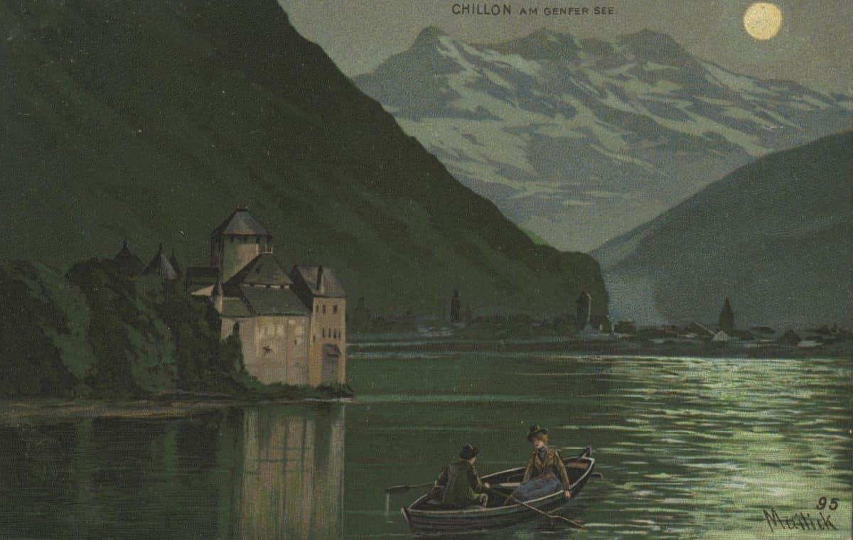 Carte postale. Chillon am Genfer see