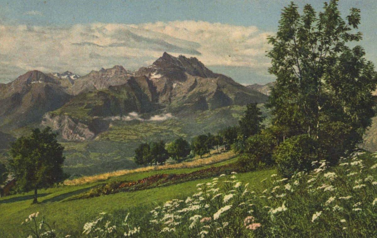 Carte postale, Environs de Villars
