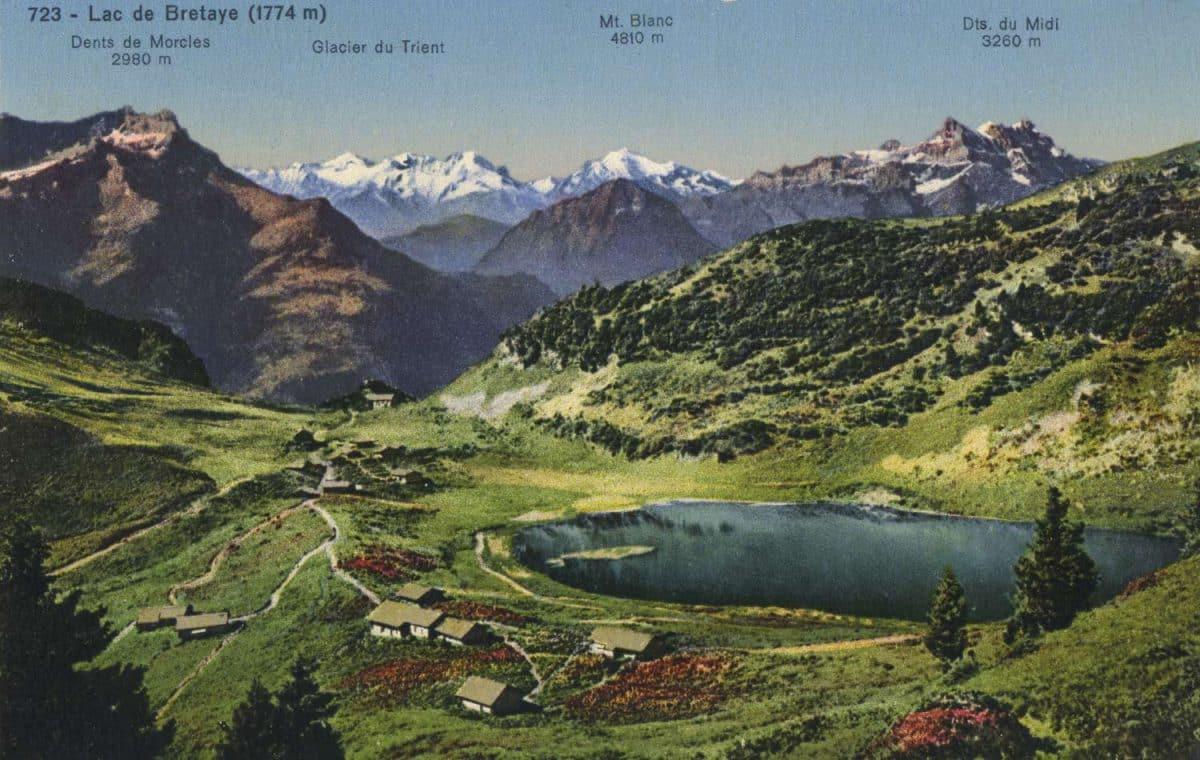 Carte postale, Lac de Bretaye (1774m)