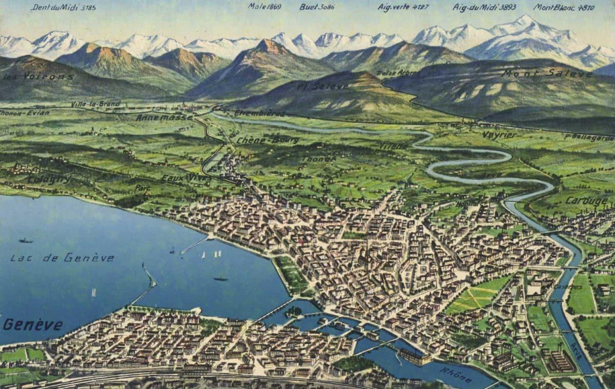 Carte postale, Lac de Genève
