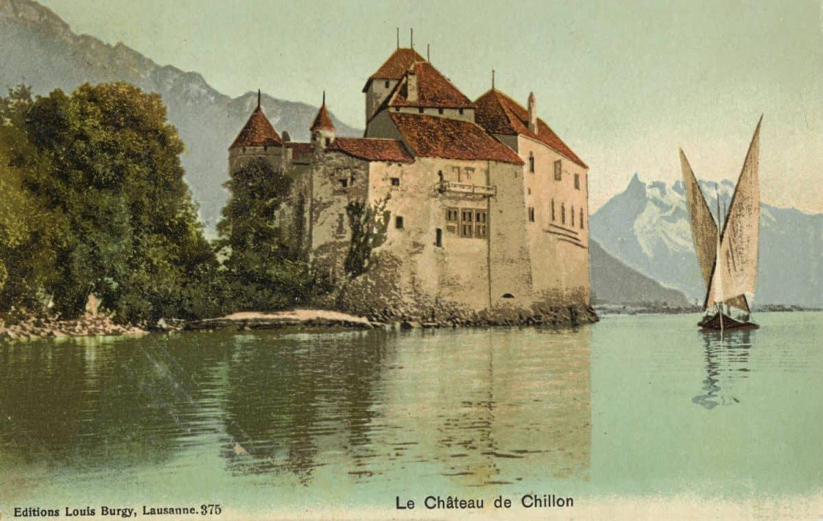 Carte postale. Le château de Chillon