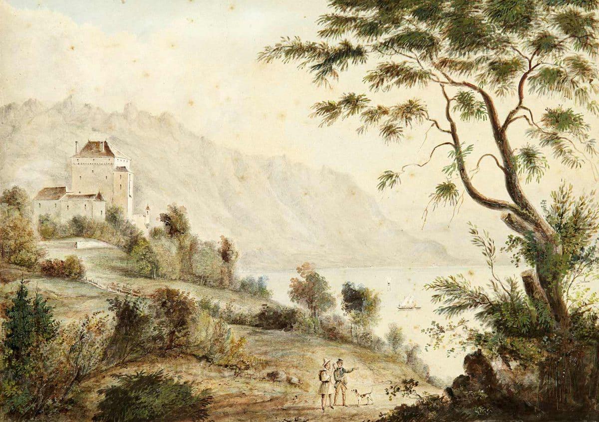Gravure. Le château du Châtelard