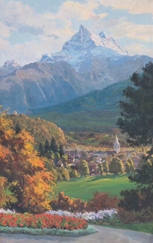 Peinture. Par Paul Kutscha, 1912, peintre de paysages et de marines, né à Pruchna le 26 juin 1872. Il travailla à Munich, à Hambourg, à Berlin, à Vienne et même quelques temps à Syndney en Australie