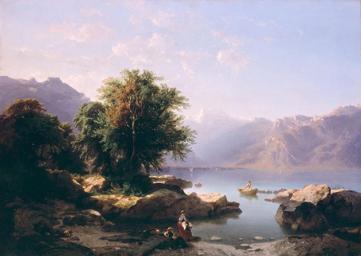 """Alexandre Calame (1810-1864), """"La Dent du Midi"""", huile sur toile 100 x 140cm, 1849. © Musées d'art et d'histoire, Ville de Genève. Numéro d'inventaire 1911-0127. Photo : Yves Siza"""