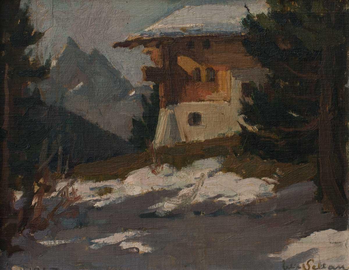 Felice Vellan (1889 - 1976), huile sur toile 21 x 27cm, 1947, collection privée