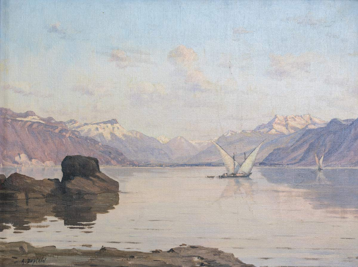 Albert Duplain (1890-1978), huile sur toile 34 x 45,3cm, collection privée
