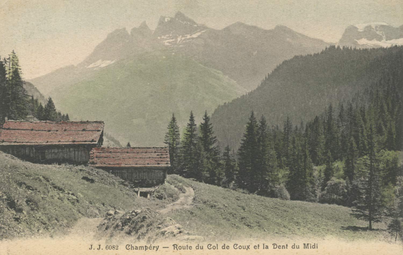 Carte postale, Champéry - Route du Col de Coux et la Dent du Midi