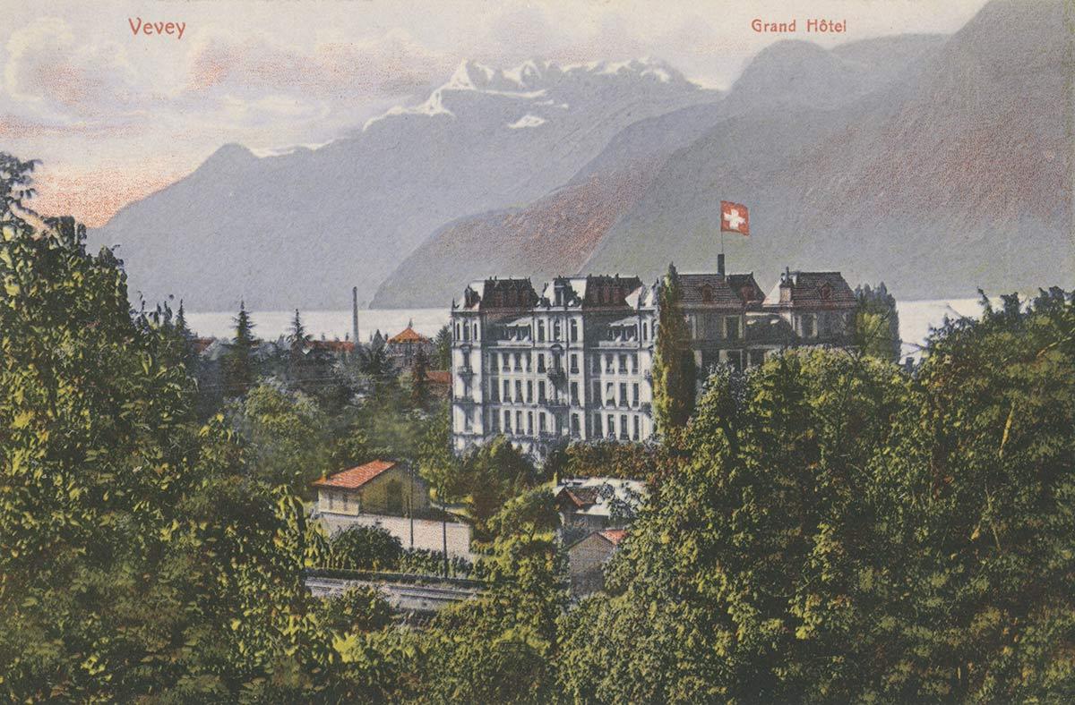 Carte postale. Grand Hôtel de Vevey