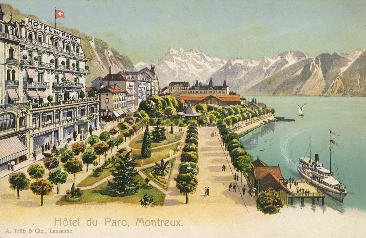 Carte postale. Hôtel du Parc, Montreux