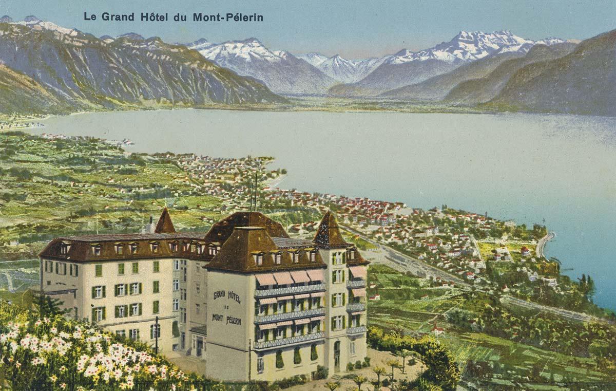 Carte postale. Le Grand Hôtel du Mont-Pélerin