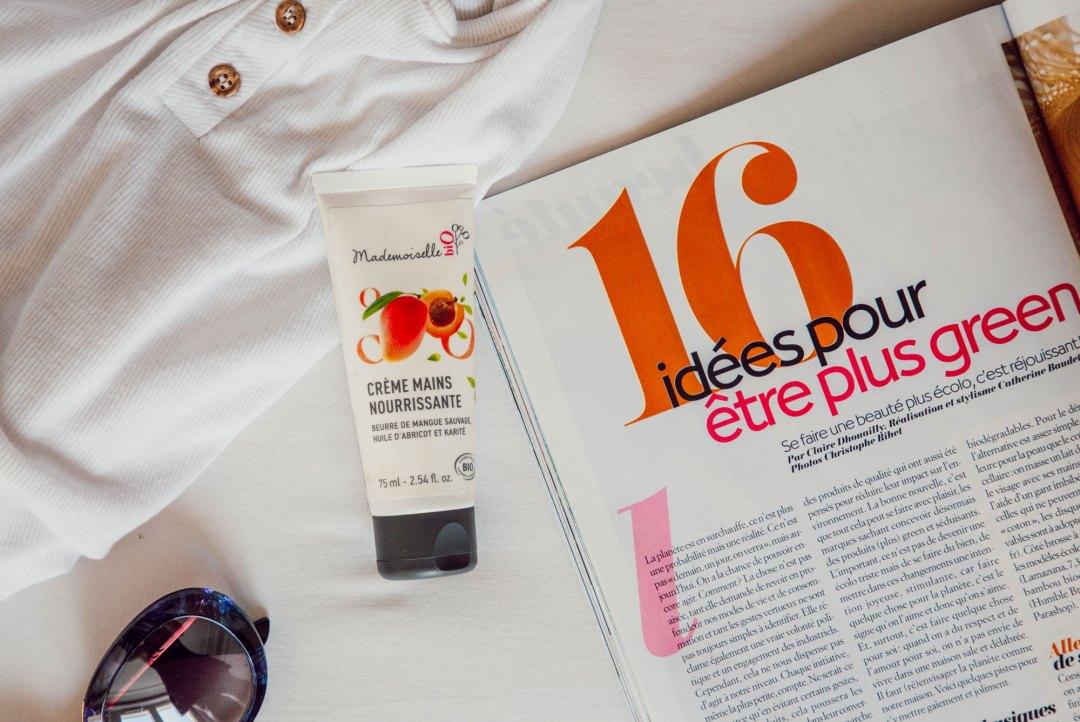 produits bio que nous avons testés - Crème main Mademoiselle Bio - lesdeuxchouettes.fr