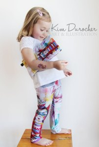 Leggings adorable et un étui à crayons croquable
