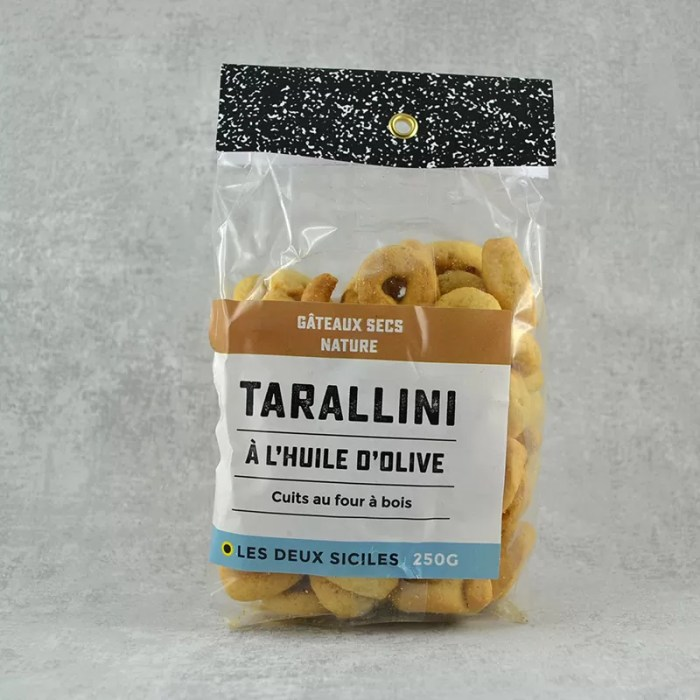 Tarallini à l'huile d'olive nature