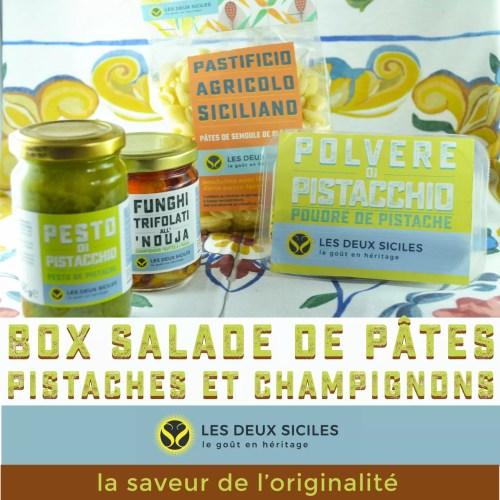 """""""salade de pâtes pistaches et champignons"""""""