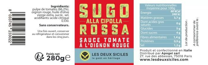 sauce tomate à l'oignon rouge