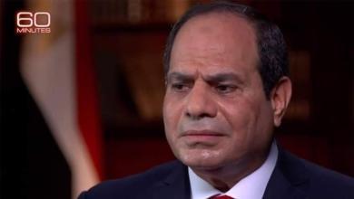 Photo de Le président égyptien Sissi en sueur lors d'une interview sur CBS