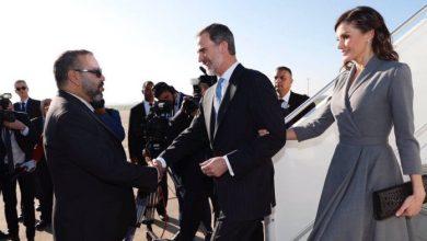 Photo de Arrivée du roi Felipe VI et de sa femme à Rabat
