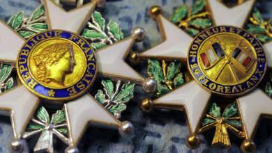 Photo de Trois personnalités marocaines décorées de la Légion d'Honneur de la République française