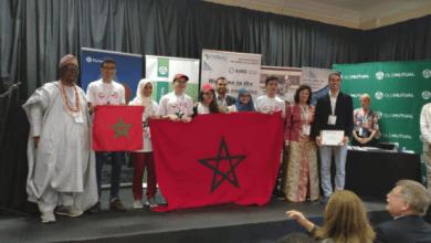 Photo de Olympiades panafricaines de mathématiques 2019. L'équipe marocaine rentre la tête haute