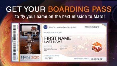 Photo de La NASA met en ligne des cartes d'embarquement pour Mars