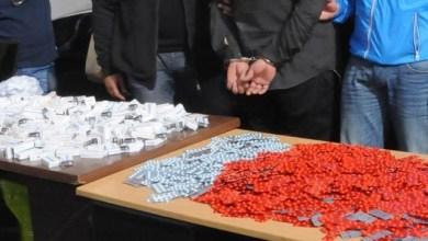 Photo de Tanger. Trois individus arrêtés, 8.000 comprimés de psychotropes saisis