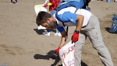 Photo de Journée mondiale de l'océan. Forte mobilisation pour le nettoyage de la plage des Oudayas