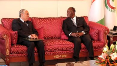 Photo de Le PDG d'Attijariwafa bank reçu par le président ivoirien