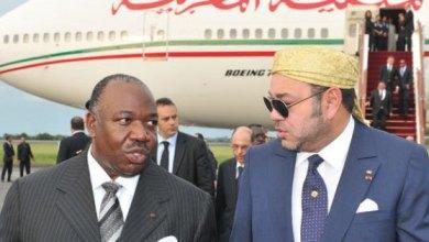 Photo de Mohammed VI au Gabon