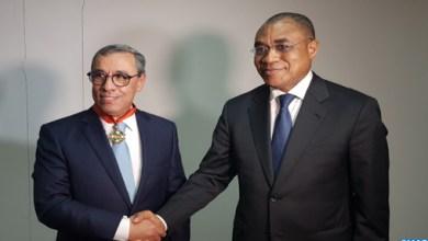 Photo de Banque centrale populaire. Le PDG fait commandeur de l'Ordre national ivoirien