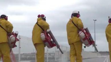 Photo de Vidéo: Tanger Med désinfecte ses installations