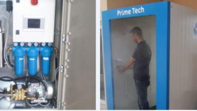 Photo de Coronavirus: Une entreprise développe une cabine de désinfection 100% marocaine