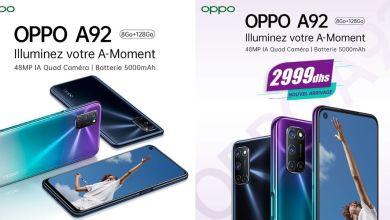 Photo de Le OPPO A92 est disponible au Maroc