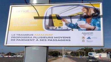 Photo de Agadir. Le Trambus Amalway fait sa promo