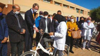 Photo de Kelaâ Sraghna. Des vélos  pour encourager la scolarisation