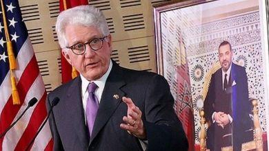 Photo de L'ancien ambassadeur des Etats-Unis au Maroc reçoit le Wissam Alaouite