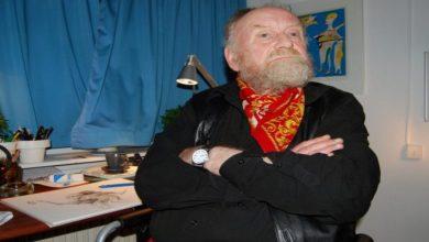 Photo de Kurt Westergaard, le dessinateur danois des caricatures du prophète est mort