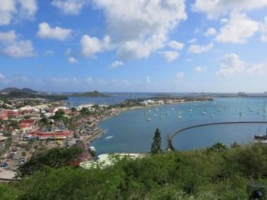 La baie de Marigot à St Martin.