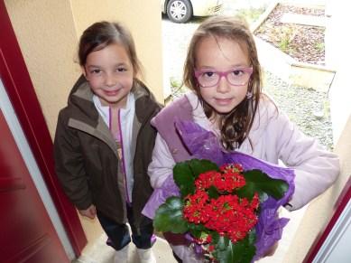 De jolies fleurs en rentrant de chez Mamie