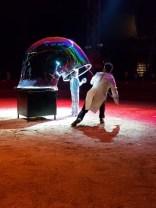 Soirée au cirque avec Tycia sur la piste