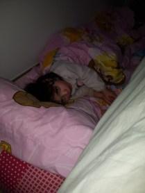 Léna a migré dans notre chambre pour qq nuits