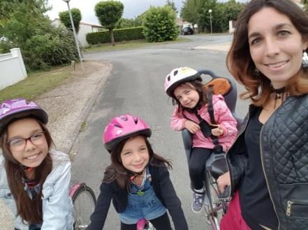 Balade en vélo entre les gouttes