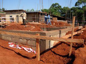 Fondation des toilettes terminé