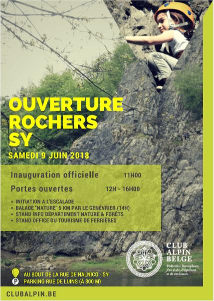 Inauguration rochers Sy