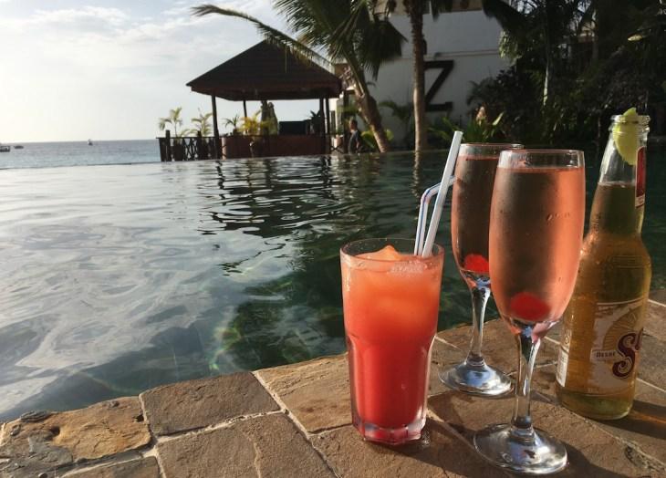 le Z hotel à Zanzibar et ses cocktails