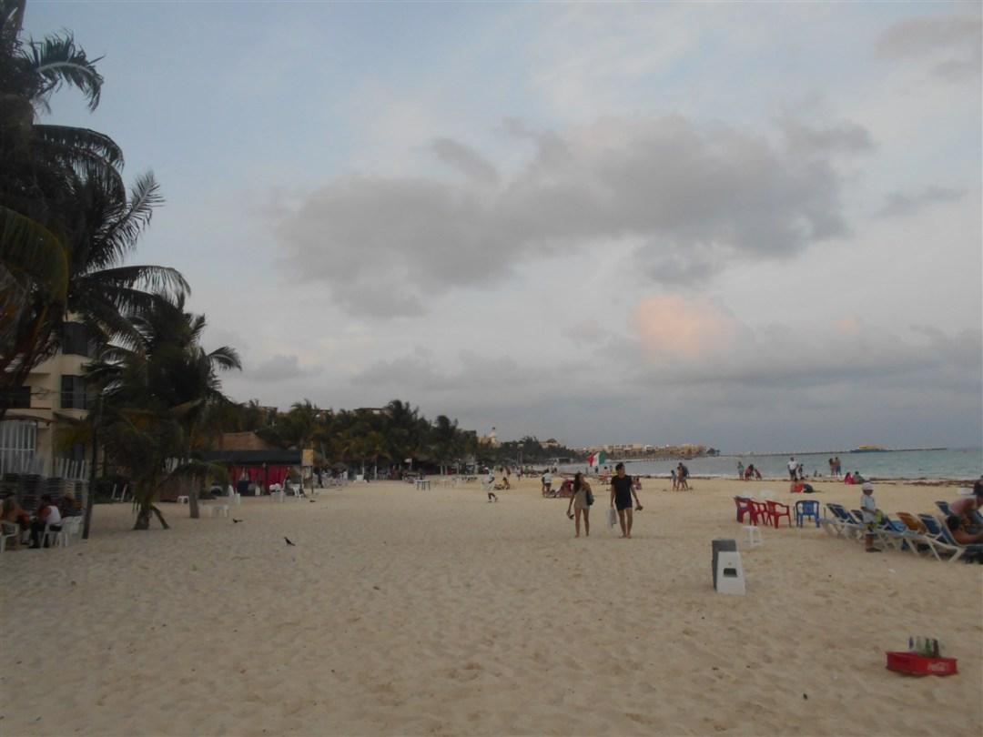 Plage-de-playa-del-carmen-en-fin-de-journée
