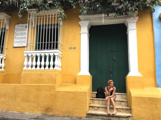 façade colorée à carthagène