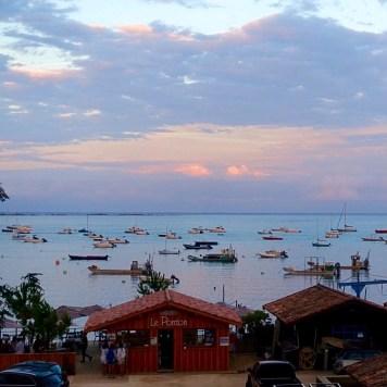 le canon au Cap Ferret et son magnifique coucher de soleil
