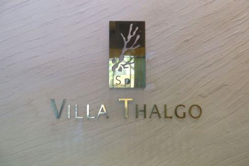 le spa villa thalgo et son entrée
