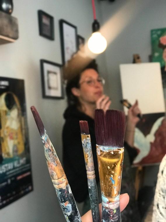 cours de peinture avec happy paint et doriane